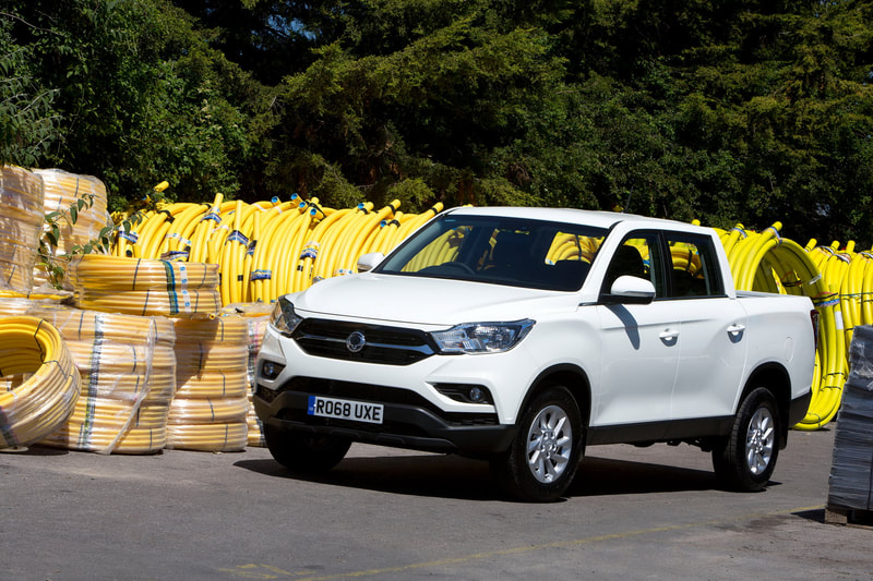 2019 SsangYong Musso commercial front