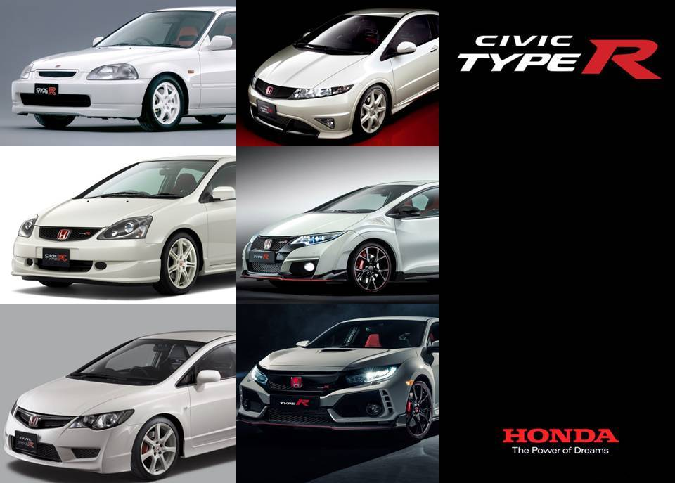 Civic Type R generations