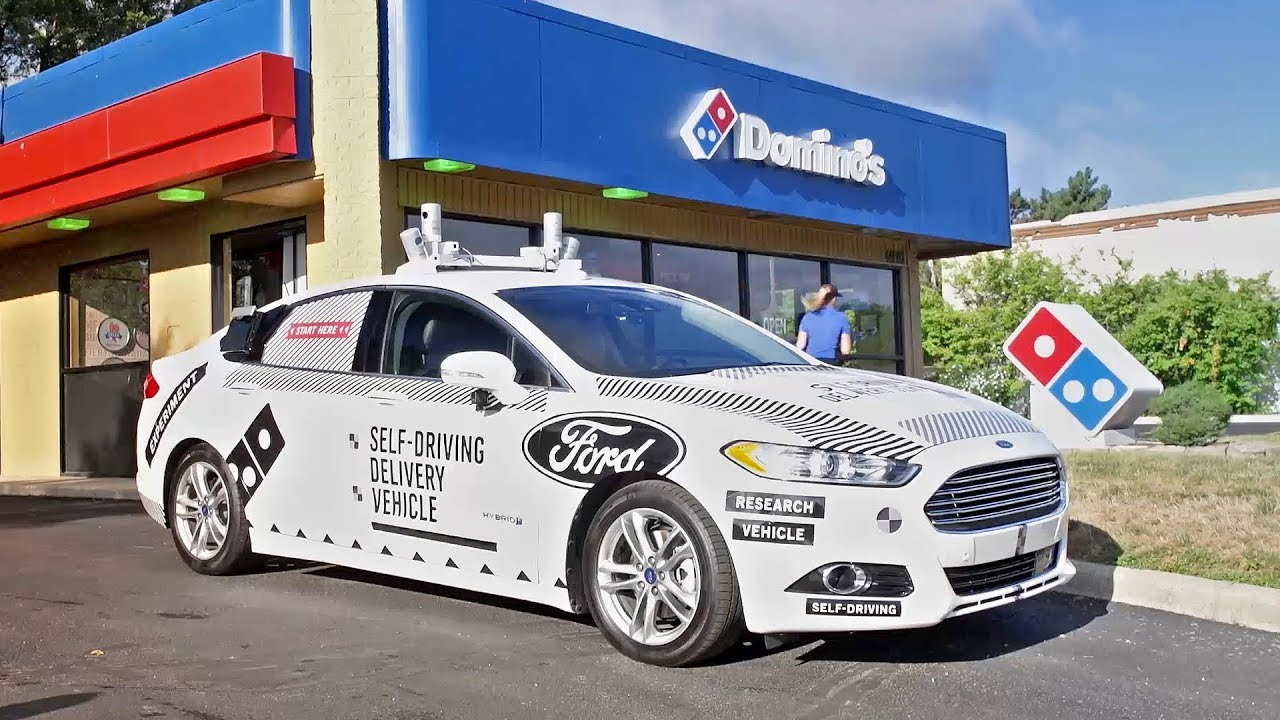 Ford Dominoes Autonomous Delivery Car