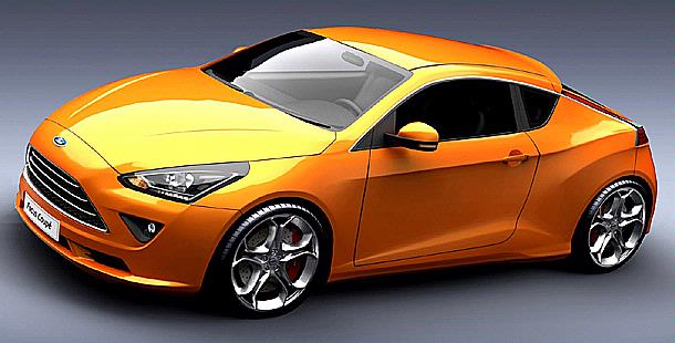2012 Ford Focus Coupe concept front
